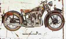 Matchless SilverHawk 1931 Aged Vintage SIGN A3 LARGE Retro