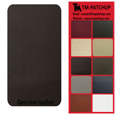Genuine Leather and Vinyl Repair Patches Kit , Dark Brown Size 3'' x 6''