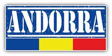 """Andorra Grunge Travel Stamp Car Bumper Sticker Decal 6"""" x 3"""""""
