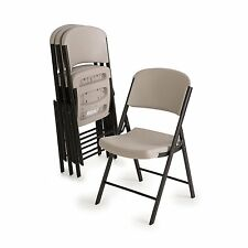 Commercial Grade Contoured Folding Chair , Select Color 4 pack (Putty) AB849779