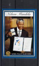 Uganda 2013 MNH Nelson Mandela Nobel Peace Prize Winner 1993 20th Anniv 1v S/S