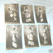 Six Sent 1912 Po 00004000 Stcards - Young Lady Fashion