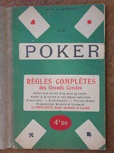 Règles complètes de Poker Savigny Bluff