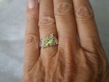 Ethiopian Opal ring, 0.84 carats, size L/M, 4.32 grams of 925 Sterling Silver