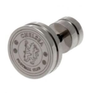Chelsea FC Stainless Steel Stud Earring (football club souvenirs memorabilia)