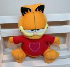 "Garfield Plush Suction Cup Paws heart shirt  valentine window hanging 7 "" NEW"