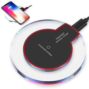 Chargeur Sans Fil Qi Induction Rapide iPhone 12/11/X/XR Samsung S9/10/20 Xiaomi