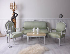 Table and Chairs Baroque Style Sofa Baroque France Salon Set Seating Furniture