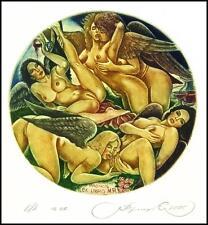 Kirnitskiy Sergey 2005 Exlibris C4 Erotic Eritik Nude Nudo Woman Angel 114