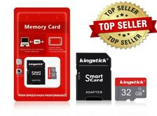 32GB Micro SD SDHC Memory Card Class 10 TF Memory with SD Card Adapter Camera