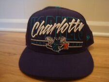 VTG Charlotte Hornets hat cap New Era 7 5/8 Fitted retro Hardwood Classics NBA