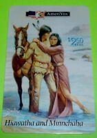 Collectible 1994 HIAWATHA and MINNEHAHA Native American AmeriVox 2.50 Phone Card