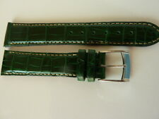 Zenith men's swiss made leather strap dark green emerald crocodile skin