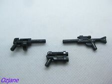 LEGO PART 95199 92738 & 85973 BLACK GUNS X3 AS PICTURED