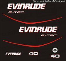 Adesivi motore marino fuoribordo Evinrude 40 cv E-TEC gommone barca
