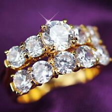 Diamond Stone Yellow Gold Filled Fashion Jewellery