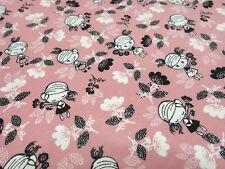 Stoff Baumwolle Jersey Blumen Mädchen rosa weiß schwarz Kinderstoff Tante Ema