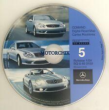 2002 2003 2004 Mercedes Benz G500 SL600 SL500 SL55 Navigation CD 5 Cover Midwest