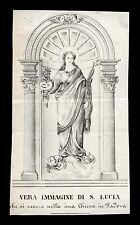 santino incisione 1800 S.LUCIA V.M. -PADOVA
