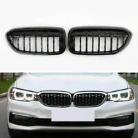 Gloss Black Front Diamond Kidney Grille Fits BMW 5 Series G30 G38 2017-2019