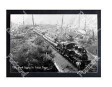 HISTORIC MILTON CREEK LOGGING Co. RAINIER, OREGON TRAIN POSTCARD