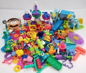 Huge Lot of Play Doh Accessories Cutters Rollers Molds Sets 200+ Pieces!!