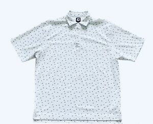 FootJoy FJ Mens XL Floral Short Sleeve Performance Golf Polo Shirt