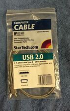 New Gray 3FT 2.0 USB Cable Type A to Mini B Male to Male 5 PIN - Lot of 9