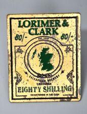 Beer Pump Clip, Mancave Home Bar, Brass, Lorimer & Clark Eighty Shilling