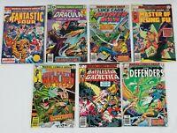 1974 - 1980 Marvel Comics Group Mixed Book Lot Of 7 Comics