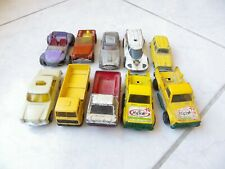 Lot 10 miniatures Corgi Norev Mini Jet Mercedes Renault Aston Jeep