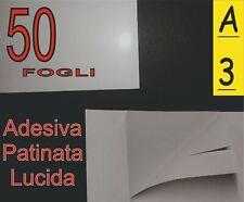 50 fogli di Carta adesiva patinata lucida fotografica x stampante laser A3