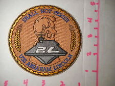 U.S.S.Abraham Lincoln Shall Not Perish Fully Embroidered Vintage Patch B-1
