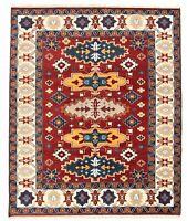 "Hand-knotted Oriental Carpet 8'0"" x 10'0"" Kazak Royal I Wool Rug...DISCOUNTED!"