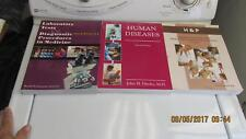 3 Books Human Disease Lab test & Diagnostic Nonphysician;s Guide Med History