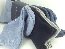Men's TOMMY HILFIGER THREE Blue SHADES 23% COTTON Dress Socks - 4 Pack -$36 MSRP