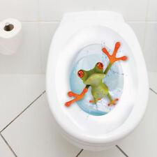 """WANDKINGS WC Aufkleber Sticker """"Crazy Frosch"""" Badezimmer Toilette Bad Zimmer"""