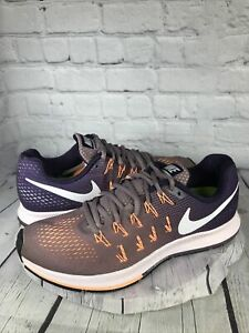 Nike Womens Air Zoom Pegasus 33 831356-500 Blue Running Shoes Lace Up Size 9.5