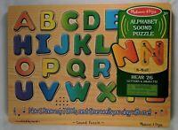 Melissa & Doug Alphabet Sound Puzzle Hear 26 Letters & Objects