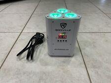 Rockville RockWedge LED RGBWA UV Battery Powered Wireless DMX White Par Up-Light