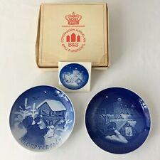 Bing and Grondahl Christmas Plates Copenhagen Porcelain 1967 1977 Denmark