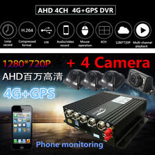 4CH Realtime Video Recorder Monitor AHD 4G GPS Mobile Phone View + 4 Cameras