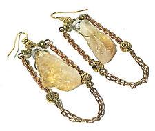 VANESSA MOONEY Noir Earrings Drop/Dangle Style in Gold/Citrine - ON SALE NOW!!!!