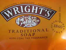 4 x Wright's Traditional Soap with Coal Tar 125g  FREE P & P.