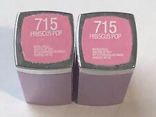 (2) Maybelline Colorsensational Rebel Bloom Collection Lipstick 715 Hibiscus Pop