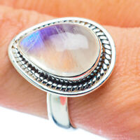 Rainbow Moonstone 925 Sterling Silver Ring Size 8.75 Ana Co Jewelry R35746F