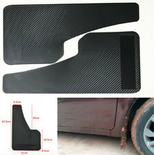 2 Pcs Vehicle Car Front & Rear Carbon Fiber Look  Mudguards Wear Resistant ABS