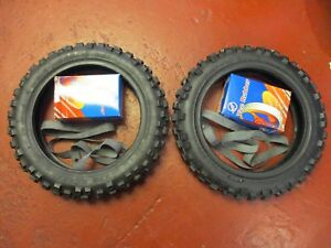 YAMAHA PW 50 FRONT + REAR + TYRE + INNER TUBES + RIMS TAPES QUALITY 250 X 10