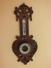 Alter geschnitzter Barometer / Thermometer