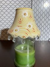 Home Interiors Flower And Dangling Bead Large Jar Candle Shade Topper Vintage